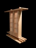 Thin Butsudan with Simple Doors $400