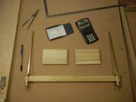 Measuring/cutting kumiko