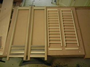 Unfinished doors and kumiko